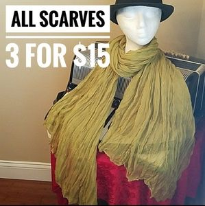 Accessories - ALL SCARVES 3 FOR $15